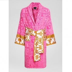 Халаты Одежда для бани и сауны Deluxe. Versace home collection Barocco and Robe халат махровый розовый
