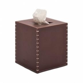 Салфетницы настольные настенные. Arte & Cuoio Tissues Marrone кожаная салфетница куб