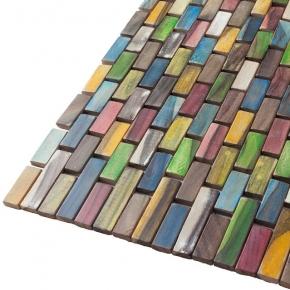 Деревянные коврики и решётки для душа и ванной комнаты. Teak Multicolor коврик для ванной комнаты тиковый деревянный