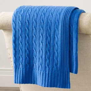 . CLASSIC CASHMERE FRENCH BLUE плед кашемировый Ralph Lauren
