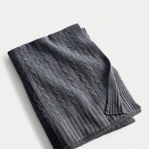 Пледы Покрывала Deluxe. CLASSIC MODERN CHARCOAL плед кашемировый Ralph Lauren