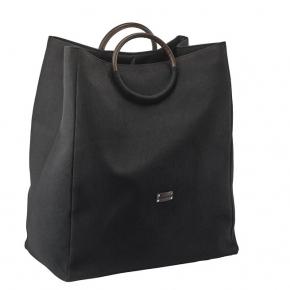 Корзины для белья. Jada текстильная корзина для белья сумка с разделителем Black и Silver Grey