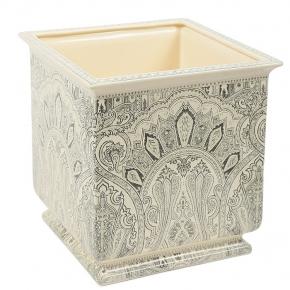 Кашпо. Кашпо керамическое квадратное с тонким декором Etro