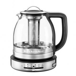 Электрические чайники и кофемашины. KitchenAid чайник электрический стеклянный 1,5 литра для кипячения и заваривания