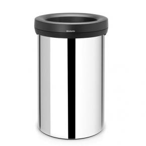 Мусорные баки и вёдра для кухни. Бак для мусора металлический 60 литров сталь полированная