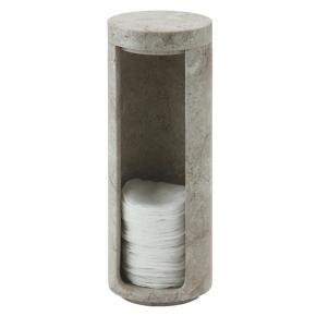 Контейнеры для ватных Дисков Шариков Палочек. Контейнер для ватных дисков из натурального камня серо-бежевый Conor