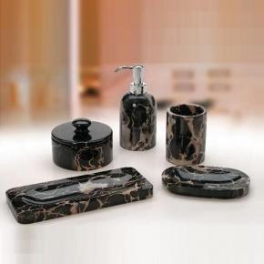 Аксессуары для ванной настольные.  Marmores Natura NP мраморные аксессуары для ванной настольные