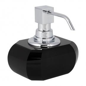 Аксессуары для ванной настольные. Decor Walther Kristall Anthrazit настольные аксессуары для ванной хрустальные Чёрный дозатор хром