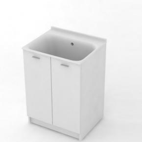 Итальянские постирочные раковины Мебель и оборудование для постирочной комнаты. Kerasan COMUNITA Комплект для постирочной 60х50 см раковина тумба белая