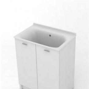 Итальянские постирочные раковины Мебель и оборудование для постирочной комнаты. Kerasan COMUNITA Комплект для постирочной 75х50 см база раковина цвет белый матовый