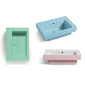 . Colavene Trix универсальная постирочная раковина глубокая для ванной Rosa, Azzurro, Verde