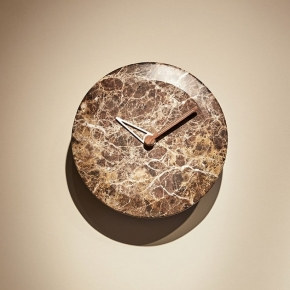 Часы. Nomon Bari M WALNUT часы настенные мраморные