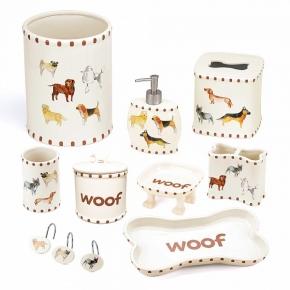 Аксессуары для детских ванных комнат. Dogs on Parade керамические аксессуары для ванной декор Собаки