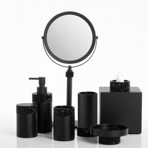 . Rocks аксессуары для ванной с кристаллами Swarovski® чёрные матовые