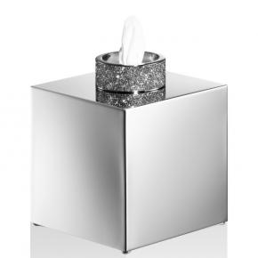 Салфетницы настольные настенные. Rocks салфетница квадратная декор хром с кристаллами Swarovski®