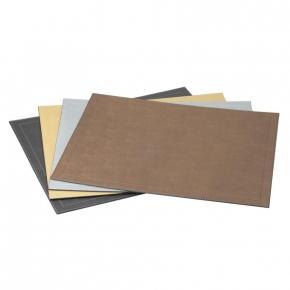 . Кожаный мат настольный для столовых приборов Metallic place mats by GioBagnara