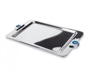 Аксессуары для ванной настольные. Подставка для предметов 51528CRB (white) Moonlight Square Chrome Swarovski
