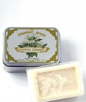Luxury Гель для душа Мыло. Мыло ароматизированное Жасмин в жестяной коробочке от Le Blanc
