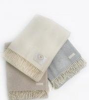 Пледы Покрывала Deluxe. Плед Eolo (75% лана, 25% кашемир) Светло-серый 140х180 см от Co.Bi