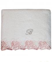 Полотенца хлопковые Deluxe. Полотенце банное 100х150 Marille Розовый от Blumarine Art.78639-02