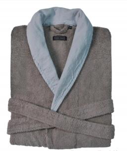 Халаты Одежда для бани и сауны. Халат  HAMPTON (S/M; L/XL) дым-голубой от Casual Avenue