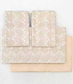 Постельное бельё Deluxe. Постельное белье семейное Macrame Beige (Макрамэ Бежевый) (155х200 - 2шт) от Blumarine