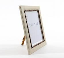Рамки для фотографий Deluxe. Рамка для фото Ivory (кожа + бамбук)