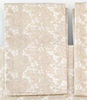 Постельное бельё Deluxe. Постельное белье полутороспальное Macrame Beige (Макрамэ Бежевый) (155х200) от Blumarine