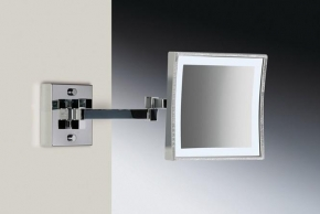 Зеркала косметические с подсветкой увеличением настенные настольные Зеркала с присосками. Зеркало настенное SWAROVSKI CHROME 99667/2WCR 3X