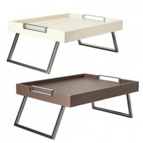 . Столик кожаный складной для кровати Vic bed trays by GioBagnara