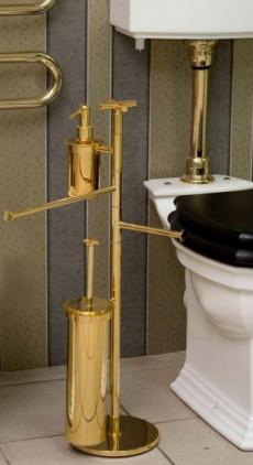 . Стойка с ёршиком, держателем для туалетной бумаги, полотенцедержателем с дозатором F135.014