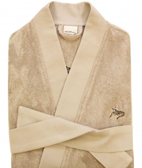 Халаты Одежда для бани и сауны Deluxe. Халат мужской кимоно (L; XL) Logo KZ Galet (Лого КЗ Галет) от Kenzo