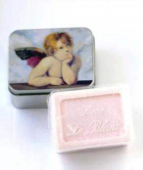 Luxury Гель для душа Мыло. Мыло ароматизированное Ангел Е Жасмин в жестяной коробочке  от Le Blanc