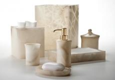 Аксессуары для ванной настольные. Alisa Cream настольные аксессуары для ванной натуральный камень мраморный Оникс