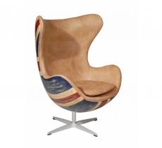 Кресла Deluxe. Кресло Hirshorn Parchment Union Jack