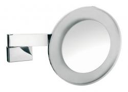 Зеркала косметические с подсветкой увеличением настенные настольные Зеркала с присосками. Зеркало косметическое, Emco, Spiegel mirrors,с подсветкой, настенный монтаж, цвет хром HO 1096 001 08