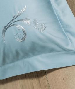 Постельное бельё Deluxe. Постельное белье семейное (евро) Изадора (140х200 — 2шт) Голубой от Catherine Denoual Maison