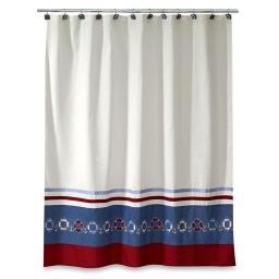 Шторки для душа и ванны текстильные. Шторка для ванной Life Preserves 13682H