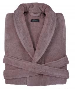 Халаты Одежда для бани и сауны. Халат DOWNTOWN (Nem) (S; M; L; XL) пыльно-розовый от Casual Avenue