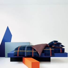 Постельное бельё Deluxe. Постельное белье семейное Carreau Nuit (Каро Нуи) (140х200 — 2шт) от Kenzo