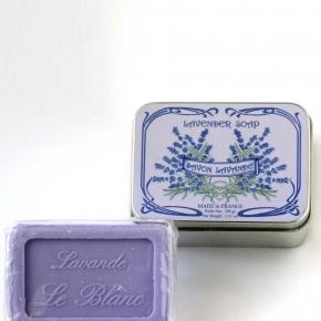 Luxury Гель для душа Мыло. Мыло ароматизированное Лаванда в жестяной коробочке от Le Blanc