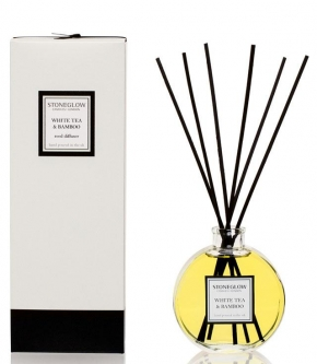Ароматические свечи Парфюм для дома Диффузоры. Диффузор Белый чай и Бамбук от Stone Glow 150 мл. art. 4040