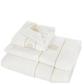 Полотенца хлопковые Deluxe. Комплект полотенец 5-ти предметный (для рук 40х60-2шт., тела 60х110-2шт. и банное 100х150-1шт.) Gold New (Голд Нью) Слоновая кость