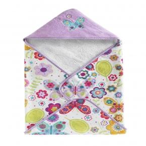 . Полотенце банное с уголком детское Bambini Hooded Butterflies BHD-BUT-MUL