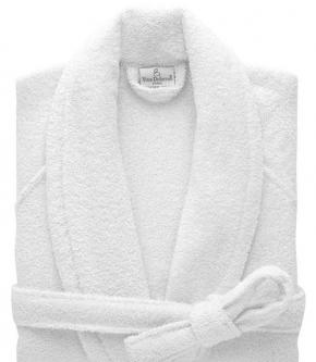 Халаты Одежда для бани и сауны Deluxe. Халат с шалью унисекс (S; M; L; XL; XXL) Etoile Blanc (Этуаль Бланк) от Yves Delorme