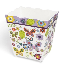 Аксессуары для детских ванных комнат. Корзина для мусора Butterflies ABF-WB