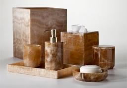 Аксессуары для ванной настольные. Caramelo натуральный камень карамельный Оникс аксессуары для ванной