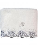 Полотенца хлопковые Deluxe. Полотенце банное 100х150 Marille Серебро от Blumarine Art.78639-06