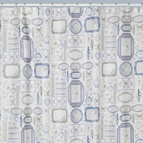 Шторки для душа и ванны текстильные. Шторка для ванной Seaside S1211MULT