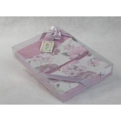Полотенца хлопковые. Комплект полотенец  ФАНТАЗИЯ розовый